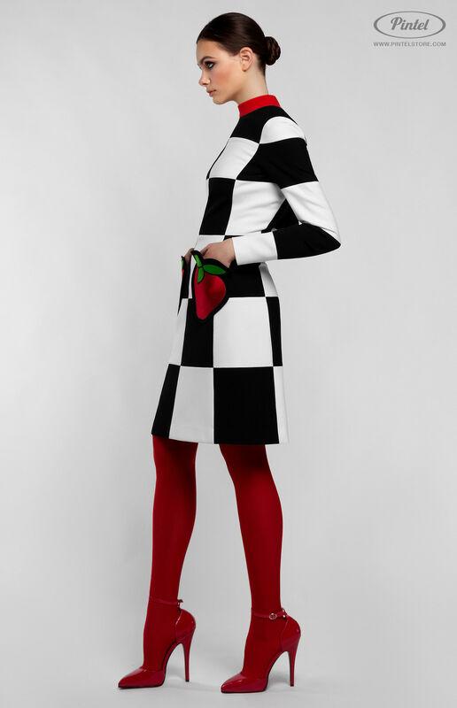 Платье женское Pintel™ Приталенное оп-арт мини-платье TAMÖNIC - фото 1