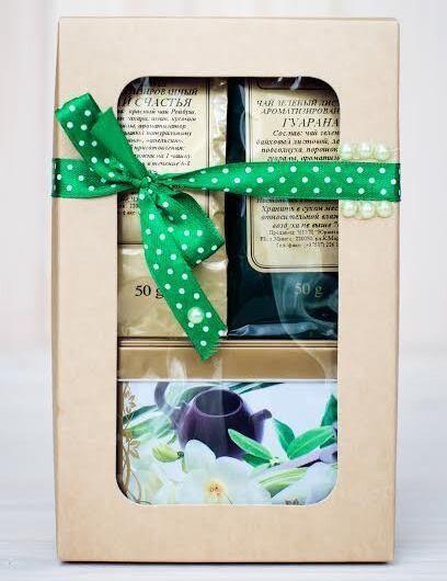 Подарок на Новый год Gurman's Набор из трёх видов чая в коробке, 2х50+100 гр - фото 1