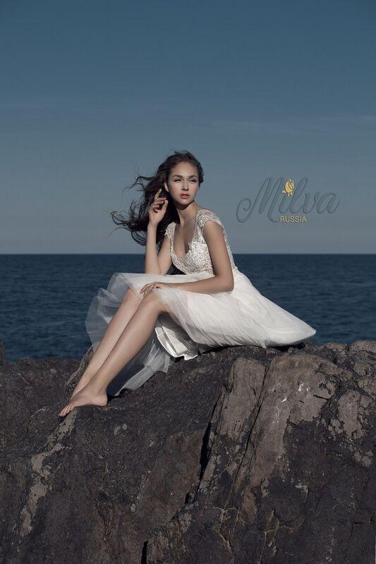 Свадебное платье напрокат Milva Платье свадебное Bruna - фото 2