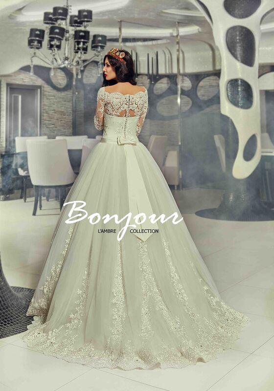 Свадебное платье напрокат Bonjour Платье свадебное «Queen» из коллекции LAMBRE 2017 - фото 2
