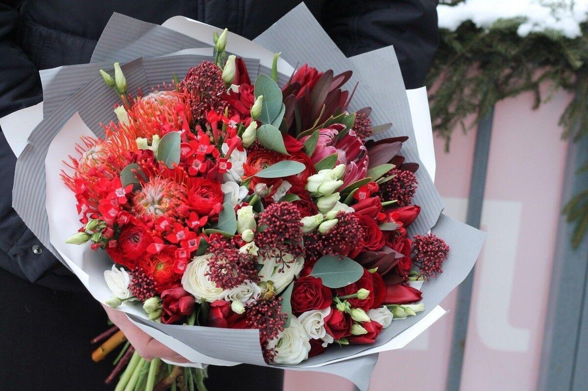 Магазин цветов Cvetok.by Букет «Алый закат» - фото 3