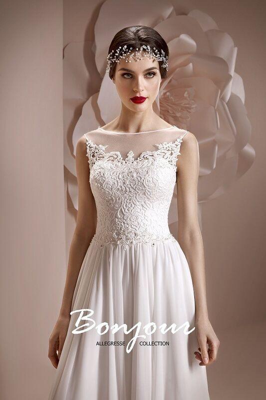 Свадебное платье напрокат Bonjour Платье свадебное «Lerdes» из коллекции ALLEGRESSE 2017 - фото 1