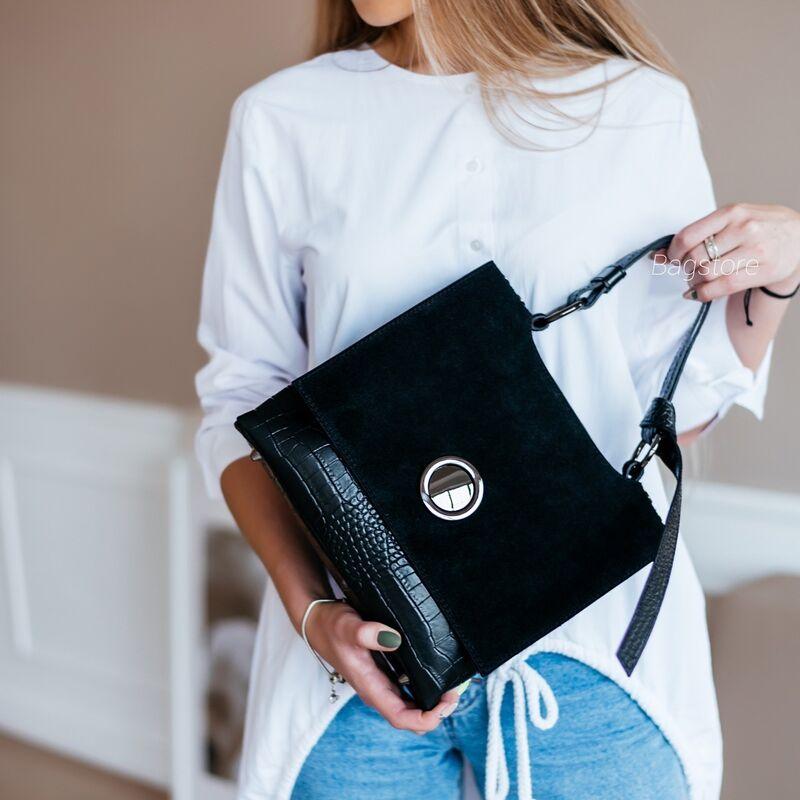 Магазин сумок Vezze Кожаная женская сумка C00543 - фото 1
