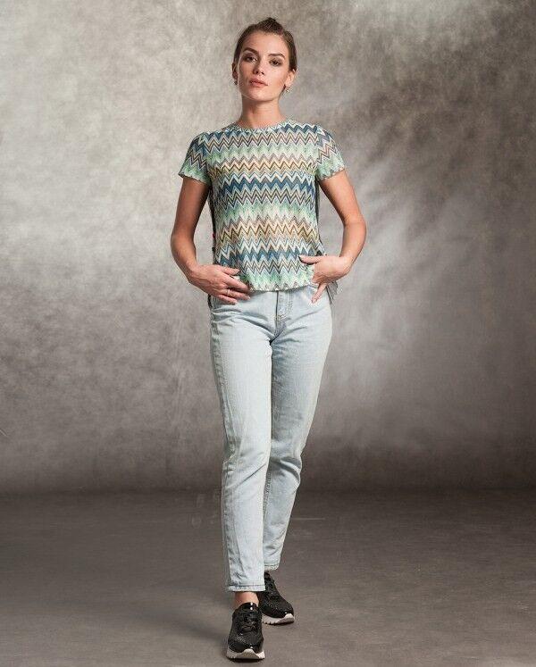 Кофта, блузка, футболка женская MISUTERI Футболка Sacai Green SS0160 - фото 1