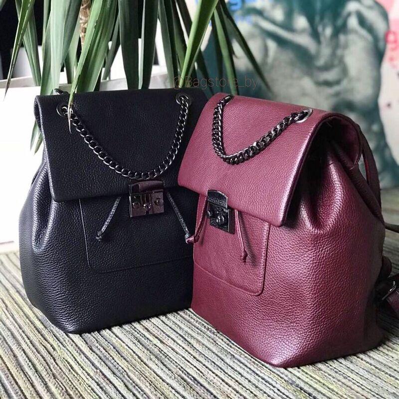 82105a2f8754 Купить Кожаный женский рюкзак C00392 Vezze в Минске – цены продавцов