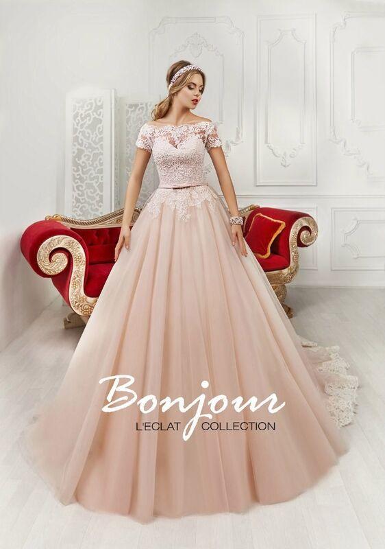 Свадебное платье напрокат Bonjour Платье свадебное «Natali» из коллекции L'ECLAT 2016 - фото 1