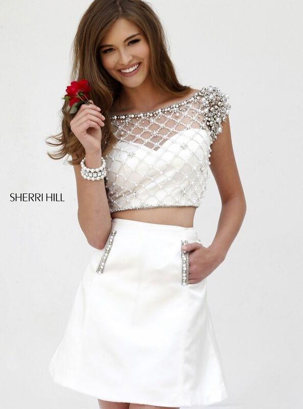 Вечернее платье Sherri Hill Кроп-топ 32309-3 - фото 1