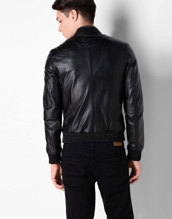 Верхняя одежда мужская Trussardi Кожаная куртка-бомбер мужская 52S09 _510070 - фото 3