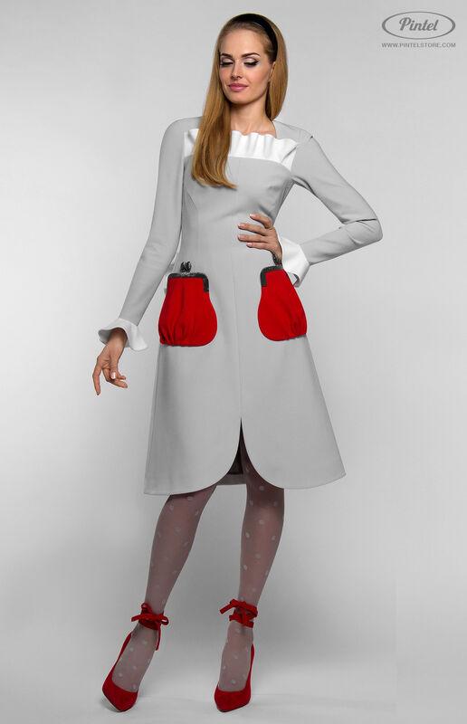 Платье женское Pintel™ Приталенное платье с длинным рукавом Aleyna - фото 1