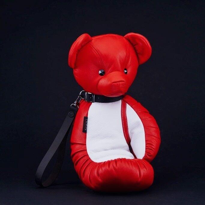 Магазин сумок IVAN AIPLATOV Сувенир-клатч Teddy Bear, красно-белый - фото 1