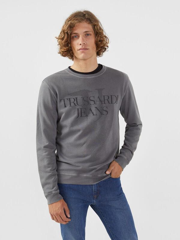 Кофта, рубашка, футболка мужская Trussardi Толстовка мужская 52F00087-1T002268 - фото 1
