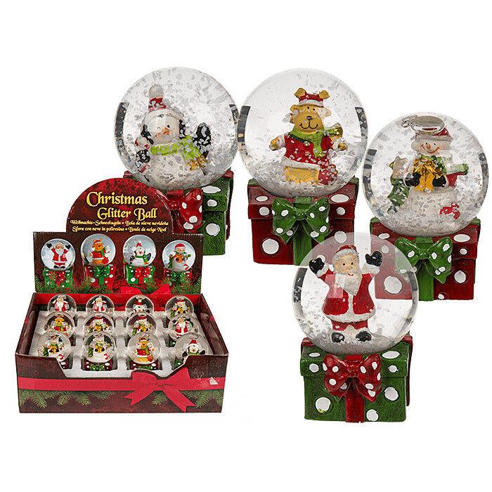 Подарок на Новый год mb déco Статуэтка новогодняя «Снежный шар с фигуркой» 946106/OO в ассортименте - фото 1