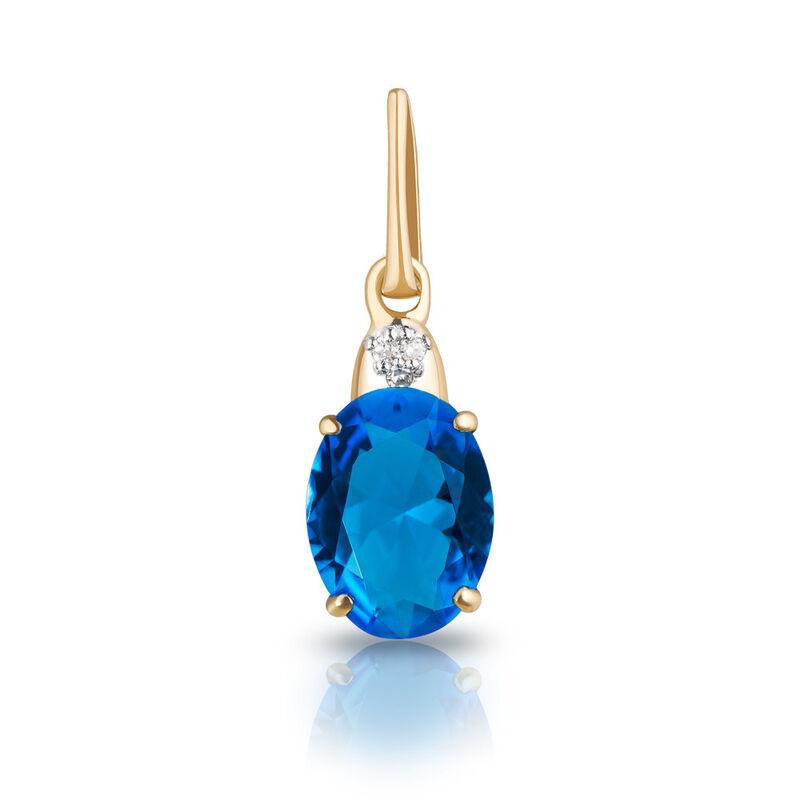 Ювелирный салон Jeweller Karat Подвеска золотая с бриллиантами и топазом арт. 1235981/1 - фото 1