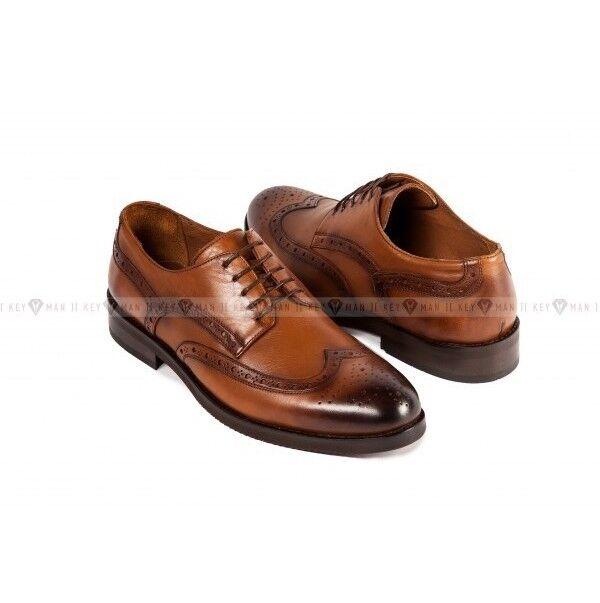 Обувь мужская Keyman Туфли мужские полуброги рыжие - фото 1