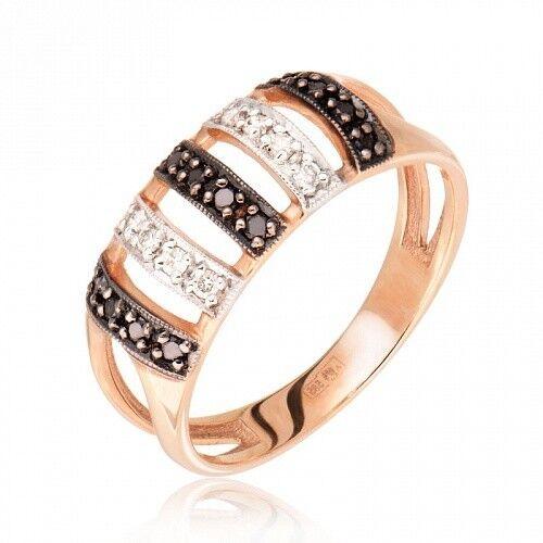 Ювелирный салон Jeweller Karat Кольцо золотое с бриллиантами арт. 1212615/1ч - фото 1