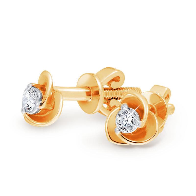 Ювелирный салон Jeweller Karat Серьги золотые с бриллиантами арт. 3223537/94 - фото 1