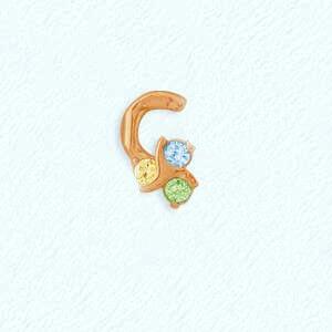 Ювелирный салон Топаз Пирсинг золотой т10207076-01 - фото 1