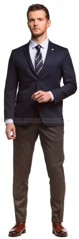 Пиджак, жакет, жилетка мужские Keyman Пиджак мужской чернильный в полоску - фото 2