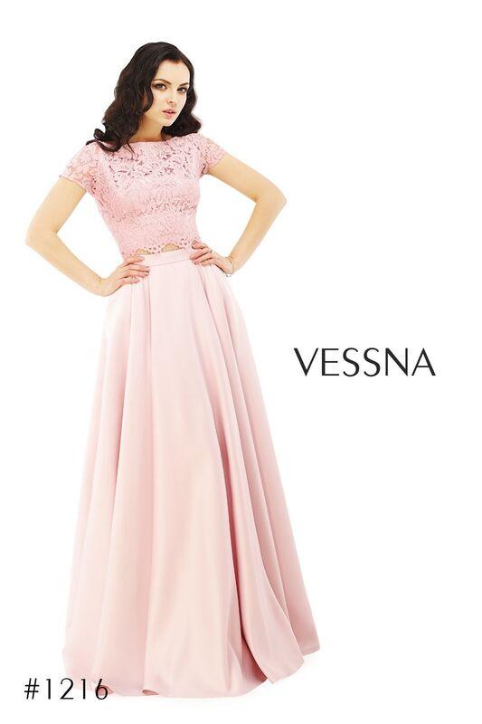 Вечернее платье Vessna Топ кружевной и Юбка длинная арт.1216 из коллекции VESSNA Party - фото 2
