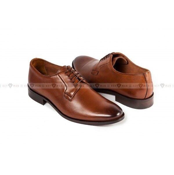 Обувь мужская Keyman Туфли мужские дерби рыжие классические - фото 1