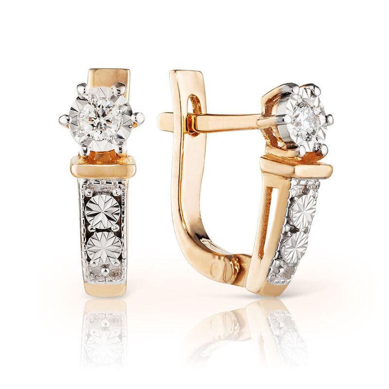 Ювелирный салон Jeweller Karat Серьги золотые с бриллиантами арт. 3224574/9 - фото 1