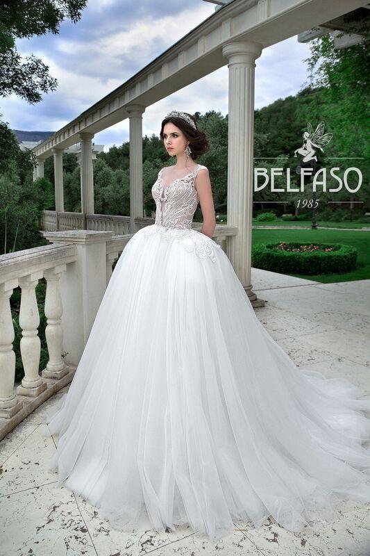 Свадебное платье напрокат Belfaso Платье свадебное Evanjelin - фото 1