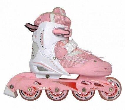 Роликовые коньки Vimpex Sport Роликовые коньки раздвижные PW-121A Pink - фото 1