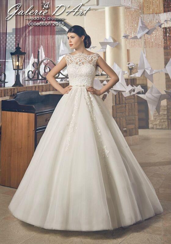 Свадебное платье напрокат Galerie d'Art Платье свадебное «Сессилия» из коллекции BESTSELLERS - фото 1