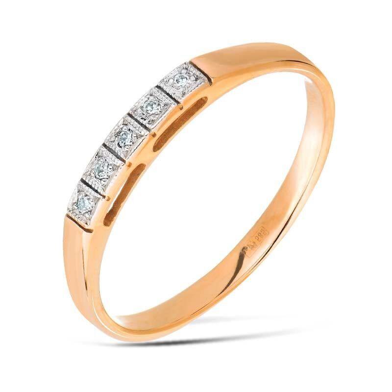 Ювелирный салон Jeweller Karat Кольцо обручальное с бриллиантами арт. 1210683 - фото 1
