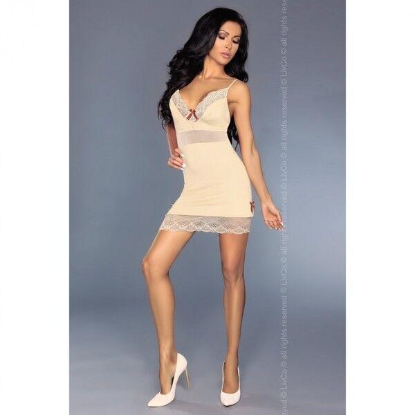 Интим-магазин Livia Corsetti Роскошная кремовая сорочка Lourdes L/XL арт. 90244L/XL - фото 4