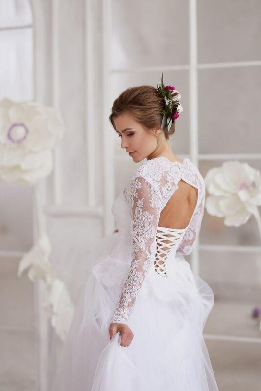 Свадебное платье напрокат ALIZA Платье свадебное «Kler» Soffito - фото 4