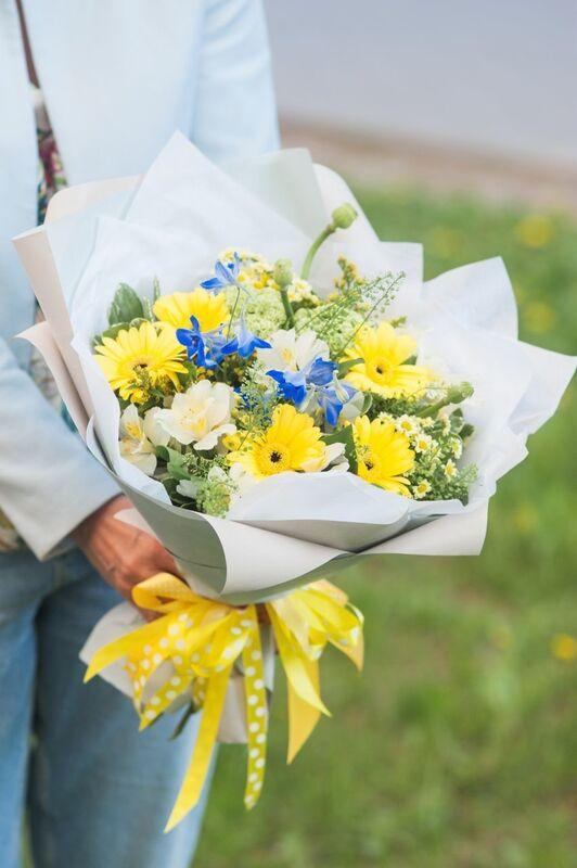Магазин цветов Цветы на Киселева Букет «Летнее солнцестояние» - фото 1