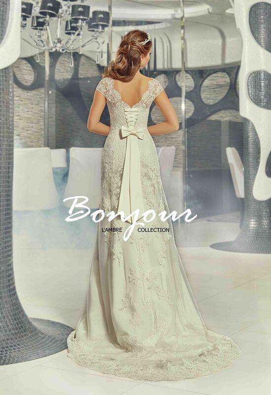 Свадебное платье напрокат Bonjour Платье свадебное «Jessi» из коллекции LAMBRE 2017 - фото 2