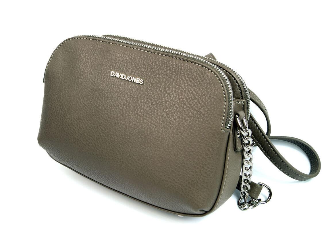 Магазин сумок David Jones Сумка женская серая 5602-2 - фото 2