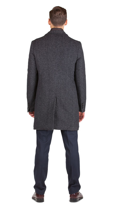 Верхняя одежда мужская HISTORIA Пальто серо-коричневое утепленное C.GrBr.M.cri001 - фото 2
