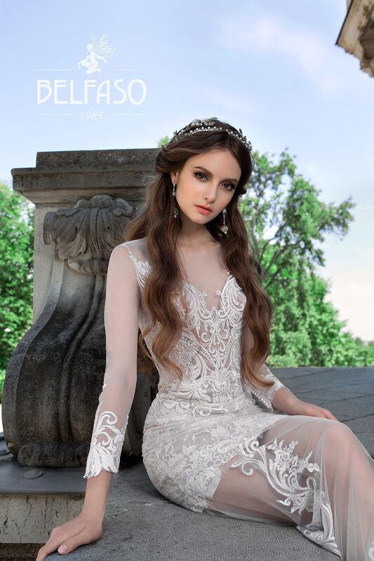 Свадебный салон Belfaso Свадебное платье Rami - фото 4