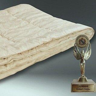 """Подарок Голдтекс Всесезонное одеяло из шерсти Мериноса """"Мерино"""" ЕВРО арт. 1037 - фото 1"""