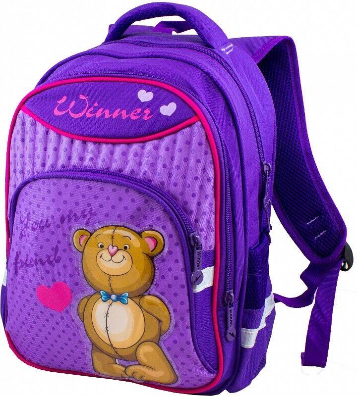 Магазин сумок Winner Рюкзак школьный фиолетовый 906 - фото 1