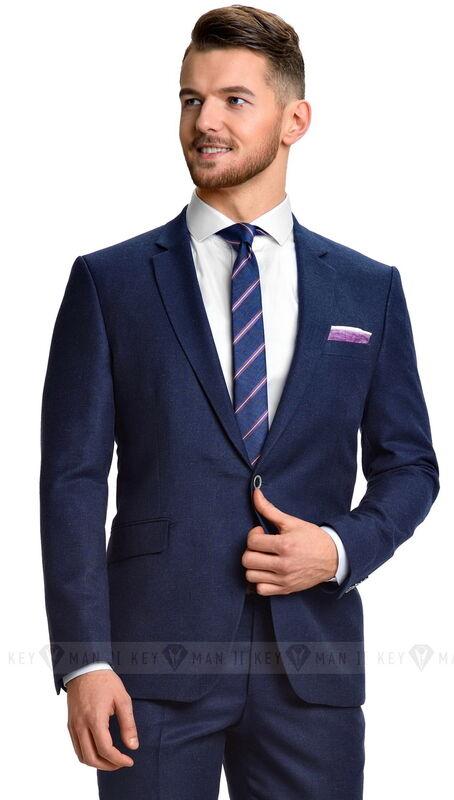 Костюм мужской Keyman Костюм мужской синий с серой фактурой - фото 1