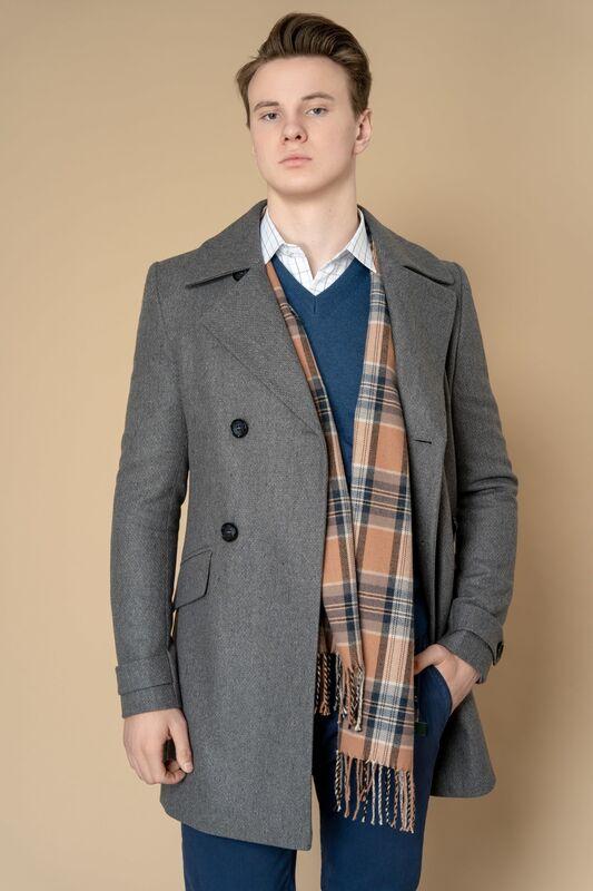 Верхняя одежда мужская Etelier Пальто мужское демисезонное 1М-8651-1 - фото 3