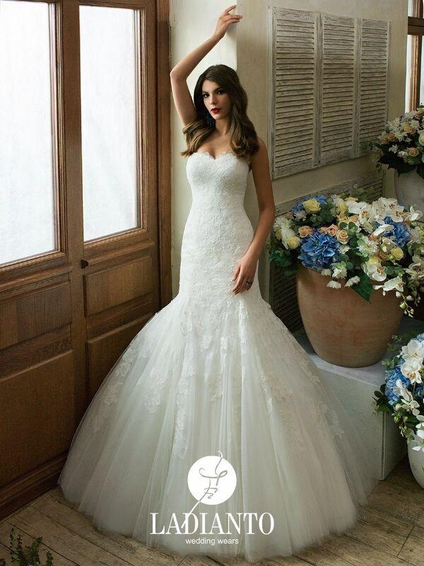 Свадебное платье напрокат Ladianto Платье свадебное Adelina D-7102 Abelarda - фото 1
