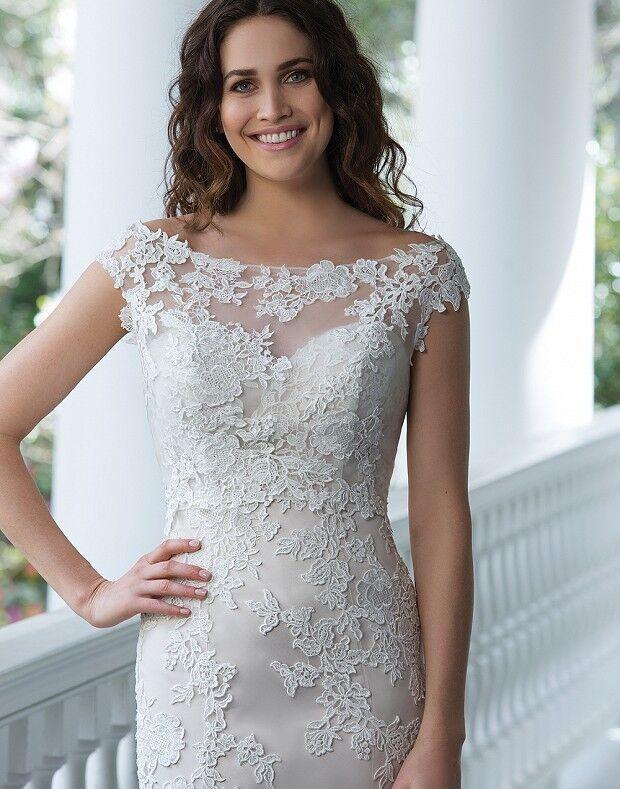 Свадебное платье напрокат Sinserity Свадебное платье 3842 - фото 3