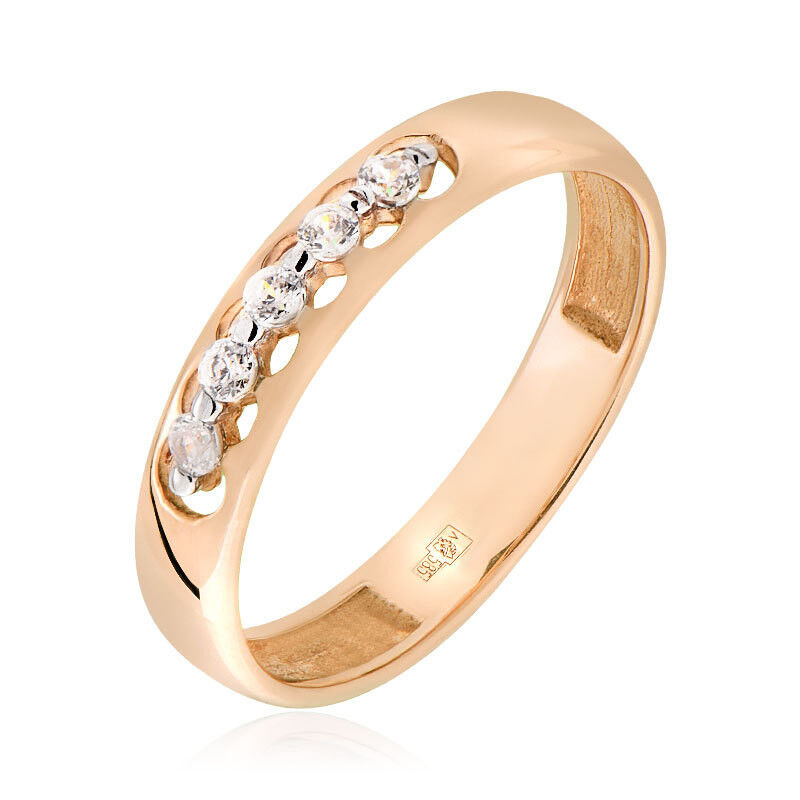Ювелирный салон Jeweller Karat Кольцо золотое с цирконами арт. 1114098 - фото 1