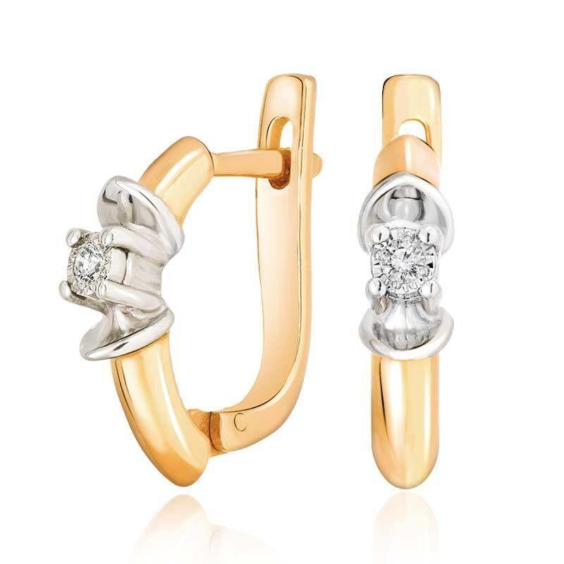 Ювелирный салон Jeweller Karat Серьги золотые с бриллиантами арт. 3222512/94 - фото 1