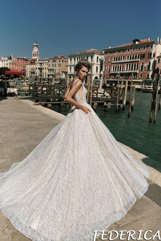 Свадебный салон Bonjour Galerie Свадебное платье Federica из коллекции La Douceur - фото 3