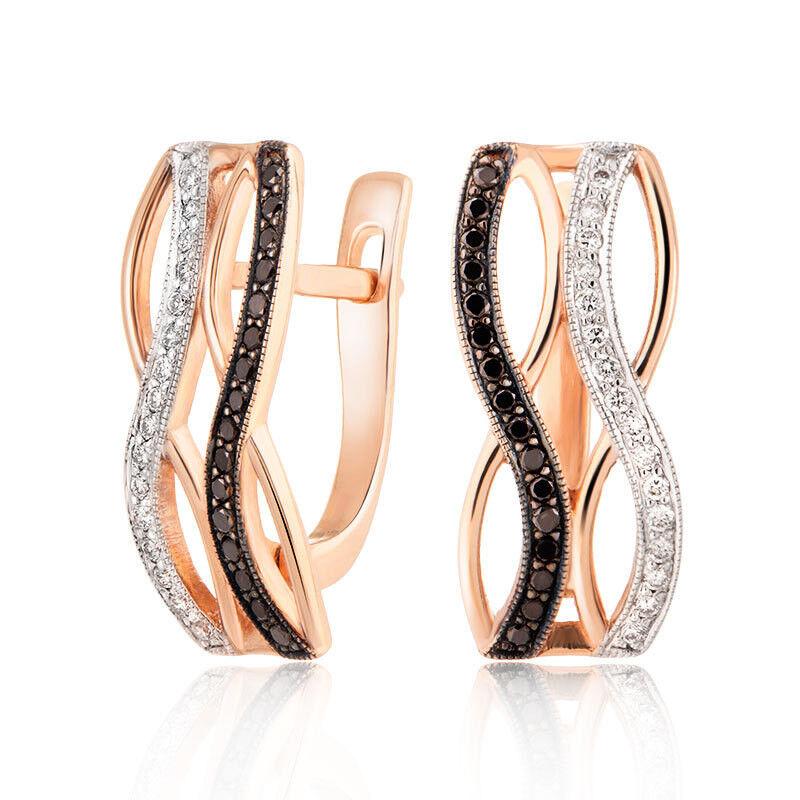 Ювелирный салон Jeweller Karat Серьги золотые с бриллиантами арт. 1223306/2ч - фото 1
