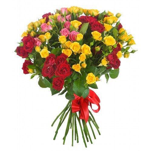 Магазин цветов Планета цветов Сборный букет №8 - фото 1
