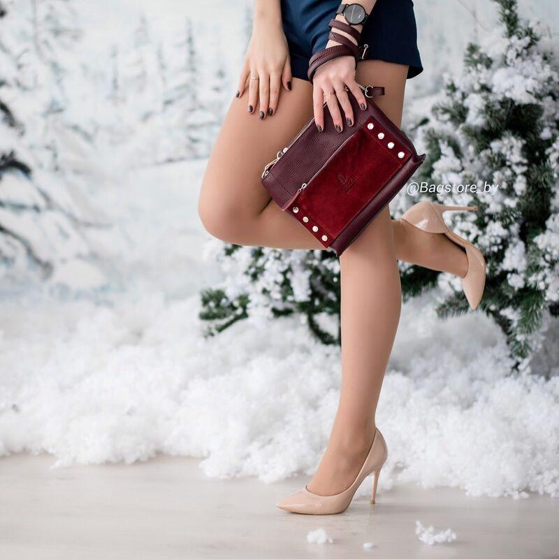Магазин сумок Vezze Кожаная женская сумка C00429 - фото 2