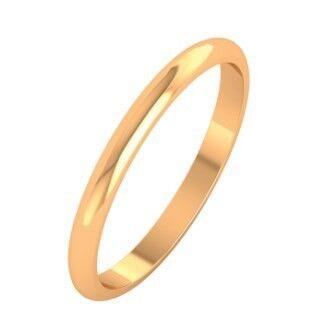Ювелирный салон ZORKA Кольцо обручальное из розового золота 102002-9K - фото 1