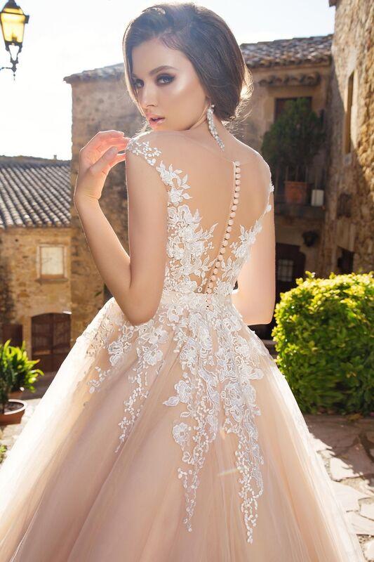 Свадебное платье напрокат Bonjour Платье свадебное «Enrika» из коллекции LA SENSUALITE 2017 - фото 3